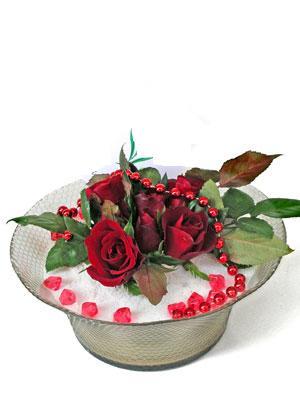 Çanakkale kaliteli taze ve ucuz çiçekler  EN ÇOK Sevenlere 7 adet kirmizi gül mika yada cam tanzim