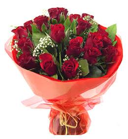 Çanakkale çiçek gönderme sitemiz güvenlidir  11 adet kimizi gülün ihtisami buket modeli