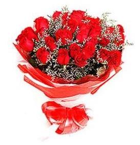 Çanakkale çiçek satışı  12 adet kırmızı güllerden görsel buket
