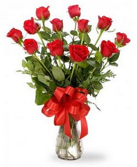 Çanakkale cicekciler , cicek siparisi  12 adet kırmızı güllerden vazo tanzimi
