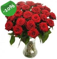 Vazo içerisinde 25 adet kırmızı gül  Çanakkale yurtiçi ve yurtdışı çiçek siparişi