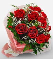 12 adet kırmızı güllerden kaliteli gül  Çanakkale kaliteli taze ve ucuz çiçekler