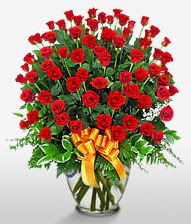 Görsel vazo içerisinde 101 adet gül  Çanakkale yurtiçi ve yurtdışı çiçek siparişi