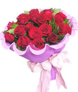 12 adet kırmızı gülden görsel buket  Çanakkale anneler günü çiçek yolla