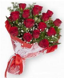 11 kırmızı gülden buket  Çanakkale ucuz çiçek gönder