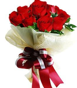 9 adet kırmızı gülden buket tanzimi  Çanakkale çiçekçiler