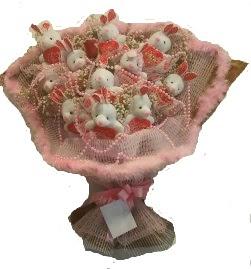 12 adet tavşan buketi  Çanakkale çiçek satışı