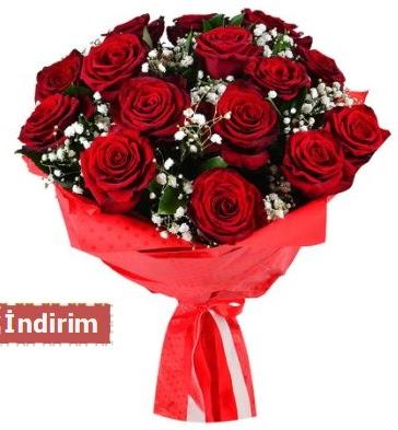 12 Adet kırmızı aşk gülleri  Çanakkale cicek , cicekci
