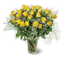 Çanakkale hediye sevgilime hediye çiçek  15 adet sarigül mika yada cam vazoda