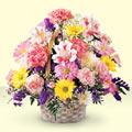 Çanakkale çiçek yolla , çiçek gönder , çiçekçi   sepet içerisinde gül ve mevsim