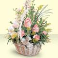 Çanakkale İnternetten çiçek siparişi  sepette pembe güller