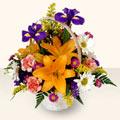 Çanakkale İnternetten çiçek siparişi  sepet içinde karisik çiçekler