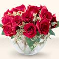 Çanakkale çiçek gönderme  mika yada cam içerisinde 10 gül - sevenler için ideal seçim -