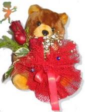 oyuncak ayi ve gül tanzim  Çanakkale çiçek servisi , çiçekçi adresleri