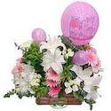 balon ve çiçeklerle tanzim  Çanakkale çiçek online çiçek siparişi
