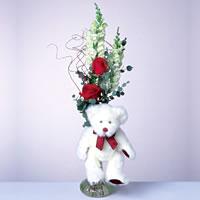 2 adet gül ve panda özel  Çanakkale anneler günü çiçek yolla