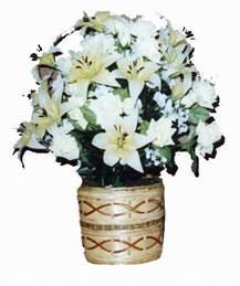 yapay karisik çiçek sepeti   Çanakkale çiçek satışı