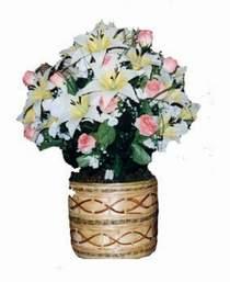 yapay karisik çiçek sepeti   Çanakkale çiçekçi telefonları