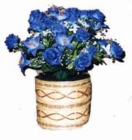 yapay mavi çiçek sepeti  Çanakkale online çiçekçi , çiçek siparişi