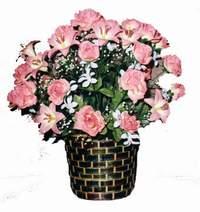 yapay karisik çiçek sepeti  Çanakkale çiçek gönderme