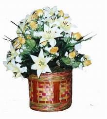 yapay karisik çiçek sepeti   Çanakkale online çiçekçi , çiçek siparişi