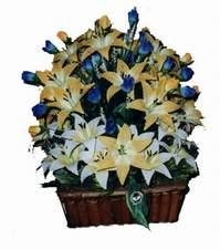 yapay karisik çiçek sepeti   Çanakkale çiçek siparişi vermek