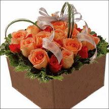 kare sandikta 11 gülllerden   Çanakkale anneler günü çiçek yolla
