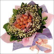 11  adet  gül ve   elyaflar   Çanakkale anneler günü çiçek yolla