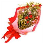 12 adet renkli  gül buketi   Çanakkale anneler günü çiçek yolla