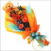 ayicik gül ve kir çiçekleri   Çanakkale anneler günü çiçek yolla