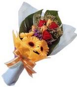 güller ve gerbera çiçekleri   Çanakkale çiçekçiler