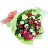 12 adet renkli gül buketi   Çanakkale çiçekçiler
