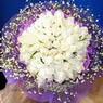 71 adet beyaz gül buketi   Çanakkale cicekciler , cicek siparisi