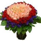 71 adet renkli gül buketi   Çanakkale uluslararası çiçek gönderme