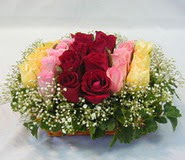 15 adet reprenkli gül sepeti   Çanakkale internetten çiçek siparişi