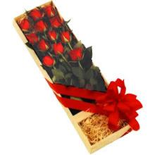 kutuda 12 adet kirmizi gül   Çanakkale internetten çiçek siparişi