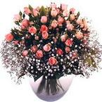 büyük cam fanusta güller   Çanakkale internetten çiçek siparişi
