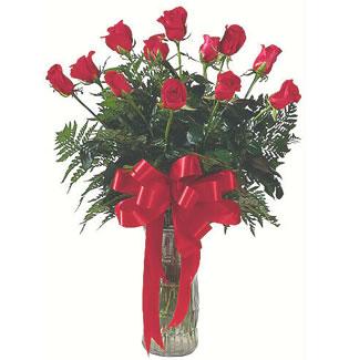 12 adet gül cam içerisinde  Çanakkale online çiçekçi , çiçek siparişi