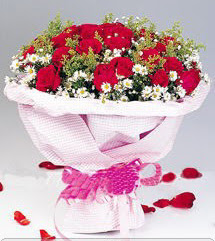 Çanakkale çiçek online çiçek siparişi  12 ADET KIRMIZI GÜL BUKETI