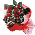 Çanakkale çiçek online çiçek siparişi  KIRMIZI AMBALAJ BUKETINDE 12 ADET GÜL