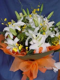Çanakkale çiçek online çiçek siparişi  5 ADET KAZABLANKA BUKETI KALITEDEN SASMAYANLARA