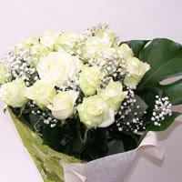 Çanakkale 14 şubat sevgililer günü çiçek  11 adet sade beyaz gül buketi