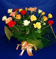 Çanakkale 14 şubat sevgililer günü çiçek  13 adet karisik renkli güller