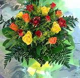 13 adet karisik gül buketi demeti   Çanakkale çiçek yolla , çiçek gönder , çiçekçi
