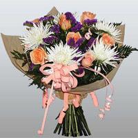 güller ve kir çiçekleri demeti   Çanakkale çiçek servisi , çiçekçi adresleri