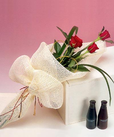 3 adet kalite gül sade ve sik halde bir tanzim  Çanakkale çiçek mağazası , çiçekçi adresleri