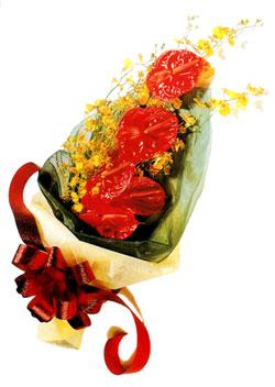 özel 5 adet antorium buketi   Çanakkale çiçekçiler