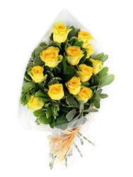Çanakkale ucuz çiçek gönder  12 li sari gül buketi.