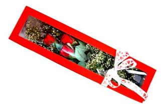 Çanakkale 14 şubat sevgililer günü çiçek  Kutuda 3 adet gül