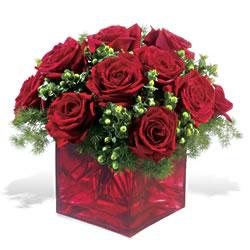 Çanakkale internetten çiçek siparişi  9 adet kirmizi gül cam yada mika vazoda